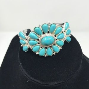 Bay to Baubles Liberty Stone Cuff turquoise